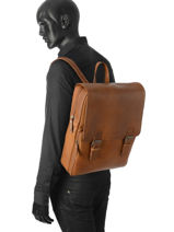 Backpack Burkely Brown on the move 529022-vue-porte
