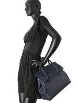 Top Handle Clara Leather Nathan baume Blue nathan 2-vue-porte