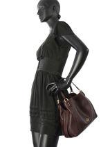 Top Handle Edie Leather Coach Red edie 57124-vue-porte
