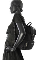 Backpack Lancaster Black basic vernis 514-86-vue-porte