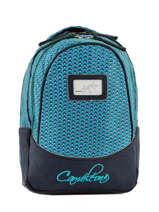 Backpack For Kids 2 Compartments Cameleon Blue retro RET-PRI