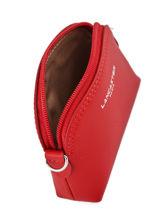 Purse Leather Lancaster Red constance 1-vue-porte