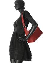 Leather Shoulder Bag Soaz Cruise Nathan baume Red cruise N1721027-vue-porte