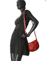 Tempo Small Saddle Bag Milano Red tempo TE18062-vue-porte