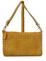 Shoulder Bag Dewashed Leather Milano Yellow dewashed TR17116