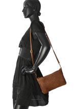 Shoulder Bag Dewashed Leather Milano Brown dewashed TR17116-vue-porte