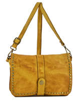 Shoulder Bag Dewashed Leather Milano Yellow dewashed DE17111
