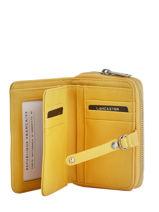 Portefeuille Cuir Lancaster Jaune soft vintage nova 120-60-vue-porte