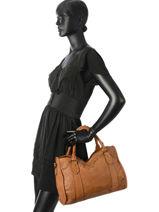 Top Handle Studs Leather Basilic pepper Brown studs BSTU07-vue-porte