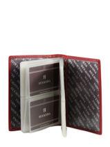 Card Holder Toucher Leather Hexagona Red toucher 627075-vue-porte