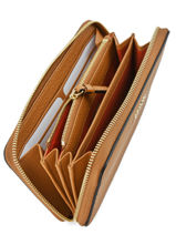 Wallet Leather Lancel Brown lettrines A07646-vue-porte