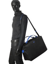 Medium Travel Bag Pop Lancel Black pop A08851-vue-porte