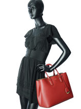 Shopping Bag Dryden Leather Lauren ralph lauren Red dryden 31697680-vue-porte