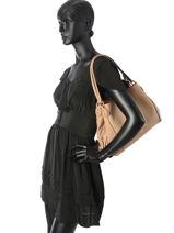 Shoulder Bag Coach Beige edie 57125-vue-porte