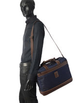 Longchamp Boxford Briefcase Black-vue-porte
