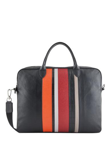 Longchamp Parisis multicolore Briefcase Black