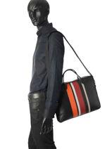 Longchamp Parisis multicolore Briefcase Black-vue-porte