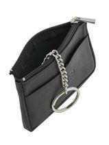 Purse Zippered Leather Katana Pink daisy 553063-vue-porte