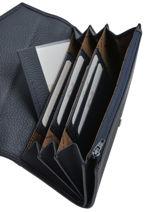 Wallet Leather Nathan baume Blue original n 188N-vue-porte