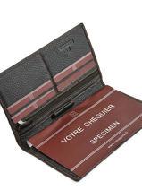 Check Holder Leather Hexagona Brown toucher 627071-vue-porte