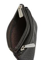 Purse Zippered Leather Hexagona Brown toucher 627079-vue-porte