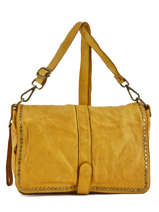 Shoulder Bag Dewashed Leather Milano Yellow dewashed DE17112