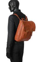 Backpack Basilic pepper Brown urban BURB07-vue-porte
