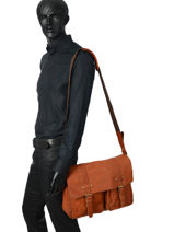 Messenger Bag Basilic pepper Brown urban BURB05-vue-porte