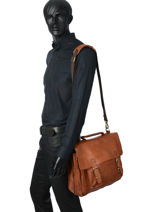 Briefcase Basilic pepper Brown urban BURB03-vue-porte