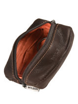 Purse Leather Wylson Brown rio W8190-1-vue-porte