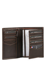 Wallet Leather Wylson Brown rio W8190-9-vue-porte