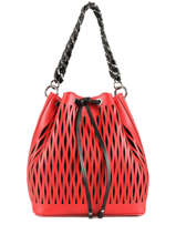 Le Baltard Leather Bucket Bag Sonia rykiel Red baltard 9263-84