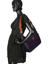 Longchamp Le pliage Messenger bag Violet-vue-porte