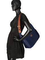 Longchamp Le pliage Sacs porté travers Noir-vue-porte