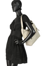 Hobo Bag Cow Leather Basilic pepper Brown cow BCOW08-vue-porte
