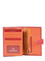Purse Leather Hexagona Pink multico 227376-vue-porte