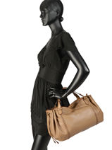 Leather 24h Gd Tote Bag Gerard darel Beige gd DJS29410-vue-porte