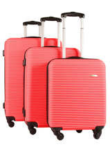 Luggage Set Madrid Travel Red madrid 1701-LOT