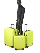 Lot De Valises Madrid Travel Jaune madrid 1701-LOT-vue-porte