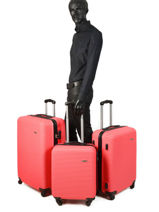Lot De Valises Madrid Travel Rouge madrid 1701-LOT-vue-porte