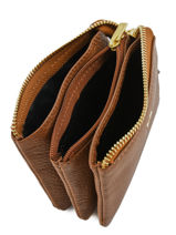 Purse Leather Yves renard Brown 29360-vue-porte