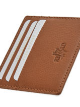 Card Holder Leather Yves renard Brown 232-vue-porte