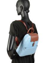 Backpack Hexagona Blue pop 171246-vue-porte