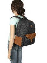 Sac à Dos 1 Compartiment Roxy Noir backpack RJBP3914-vue-porte