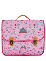 Cartable 2 Compartiments Poids plume Rose liberty LIB1541