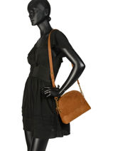 Crossbody Bag Juliet Leather Nat et nin Brown vintage JULIET-vue-porte