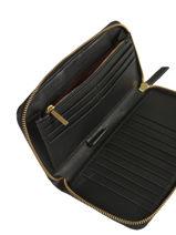 Continental Wallet Marylou Leather Nat et nin Black vintage MARYLOU-vue-porte
