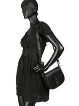 Sac Bandoulière Saddle Bag Coach Noir saddle bag 54202-vue-porte