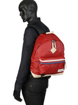 Backpack Wyoming Into The Out Eastpak Red into the out K811INTO-vue-porte