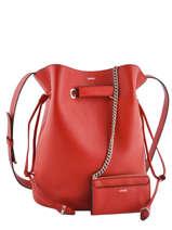 Shoulder Bag L Le Huit Leather Lancel Red le huit A07110